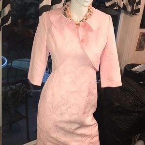 Talbots sexy pink dress with jacket size 4 nwot